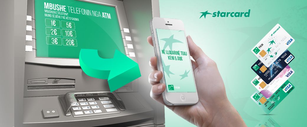 ATM Top Up – Mundësi e re nga TEB Sh.A.